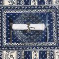 """Set de table matelassé cadré """"Avignon"""" blanc et bleu, Marat d'Avignon"""