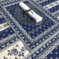 "Bordered quilted placemats ""Avignon"" white and blue, by Marat d'Avignon"