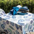 "Tessitura Toscana Tellerie, rectangular linen tablecloth ""Cyprea"""