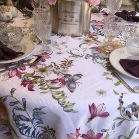 "Tessitura Toscana Tellerie, linen tablecloth ""Semiramide"""""