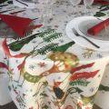 "Tessitura Toscana Tellerie, coton tablecloth ""Natale nel Bosco"""