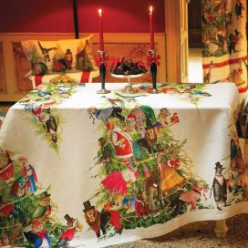 "Tessitura Toscana Telerie, linen tablecloth ""Magical Tree"""