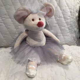 Peluches Bukowski - Souris ballerine Dancing Antonia  tutu gris