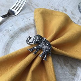 "Silvery metal napkin rings ""Elephant"""