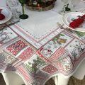 "Nappe carrée Jacquard  ""Merry"" Tissus Tosseli"