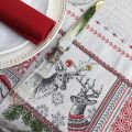 "Square Jacquard tablecloth ""Merry"", Tissus Toselli"