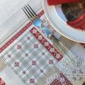 "Square Jacquard tablecloth ""Himalaya"", Tissus Toselli"