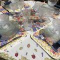 """Set de Table en coton matelassé """"Roses et Lavandes"""""""