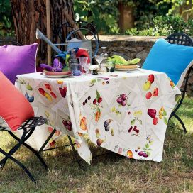 """Tessitura Toscana Tellerie, coton tablecloth Herbario"""""""