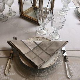 "Table napkins  Sud Etoffe ""Lavandière"" taupe"