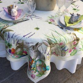 "Tessitura Toscana Telerie, rectangular linen tablecloth ""Roger"""