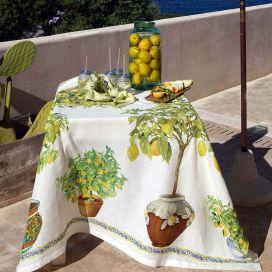 "Tessitura Toscana Telerie, nappe en lin  ""LImonaia"""