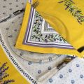 """Cotton napkin """"Lauris"""" Lavenders and OLives yellow"""