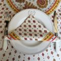 """Cotton napkin """"Mirabeau"""" white and orange"""
