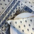 "Quilted cotton placemat ""Bastide"" white and blue ""Marat d'Avignon"""
