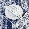 """Set de Table en coton matelassé """"Avignon"""" blanc et bleu """"Marat d'Avignon"""""""