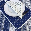"Quilted cotton placemat ""Avignon"" white and blue ""Marat d'Avignon"""