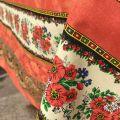 "Provence square or rectangular tablecloth in cotton ""Tradition"" orange ""Marat d'Avignon"""
