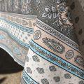 "Provence rectangular cotton tablecloth ""Bastide"" turquoise ""Marat d'Avignon"""
