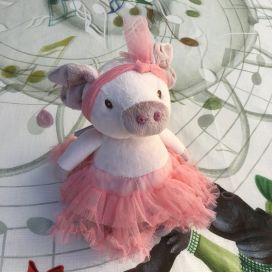 Peluches Bukowski - Ballerine cochonne Pretty Olga tutu rose