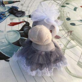 Peluches Bukowski - Ballerine hippopotame Rafaella tutu gris