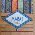 """Nappe en  coton """"Tadition"""" Bleue et Blanche """"Marat d'Avignon"""""""
