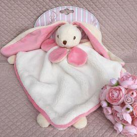"Barbara Bukowski -Rabbit ""Viggo et Maria"" pink and white Baby Rug"