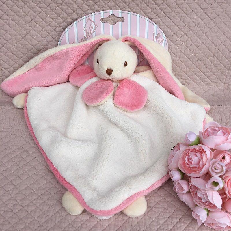 "Barbara Bukowski -Rabbit ""Viggo et Maria"" pink and white Baby Rug"