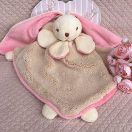 "Barbara Bukowski -Rabbit ""Viggo et Maria"" pink and beige Baby Rug"