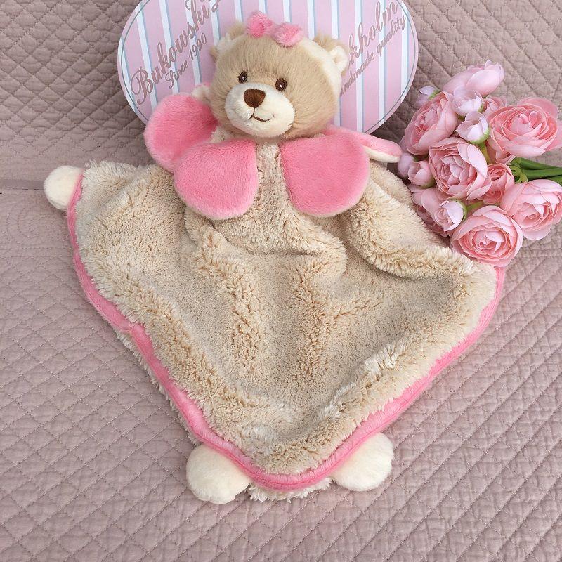 "Barbara Bukowski - Bear ""Viggo et Maria"" pink and beige Baby Rug"