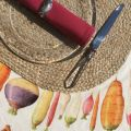 Oval jute placemat, natural color
