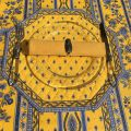 """Set de table octogonal cadré """"Avignon"""" jaune et bleu, Marat d'Avignon"""