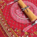 "Octogonal quilted placemats ""Avignon"" red and yellow, by Marat d'Avignon"