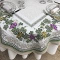 "Rectangular Jacquard tablecloth  grapes ""Vignobles"" by Tissus Toselli"