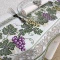 """Nappe rectangulaire Jacquard raisins """"Vignobles"""" Tissus Toselli"""