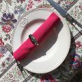 "Cotton table napkin ""Coucke"", plain fuchsia"