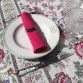 """Serviette de table en coton """"Coucke"""" uni fushia"""