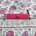 "Serviette de table en coton ""Coucke"" uni fushia"