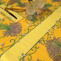 """Nappe provençale rectangulaire en coton """"Bouquet de Lavande"""" fond jaune Tissus Toselli"""