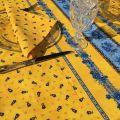 """Provence square tablecloth in cotton """"Tradition"""" jaune """"Marat d'Avignon"""""""