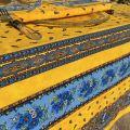 """Nappe provençale carrée ou rectangulaire en  coton """"Tradition"""" jaune  """"Marat d'Avignon"""""""
