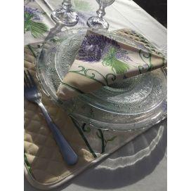 """Serviette en coton """"Bouquet de Lavande"""" écru"""