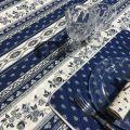 "Provence rectangular tablecloth in cotton ""Avignon"" blue and white ""Marat d'Avignon"""