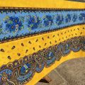 """Provence square or rectangular coated cotton tablecloth """"Tradition"""" yellow by """"Marat d'Avignon"""""""