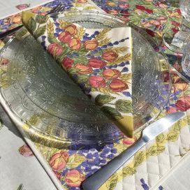 """Cotton napkins """"Roses et Lavandes"""""""