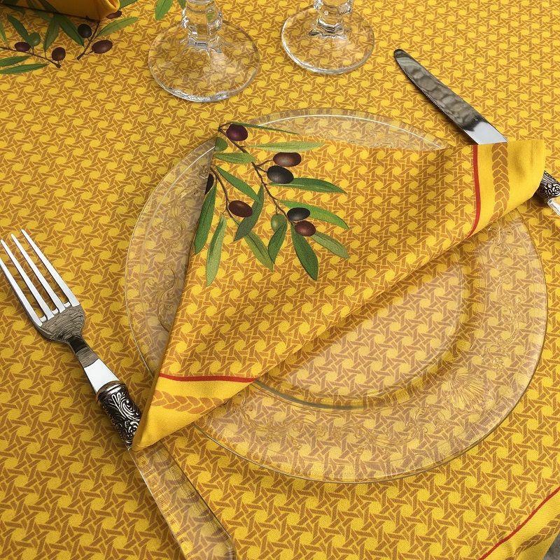 """Cotton napkins """"Nyons"""" yellow"""