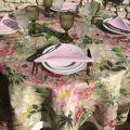 "Tessitura Toscana Telerie, nappe en lin  ""La Vie en Rose"""
