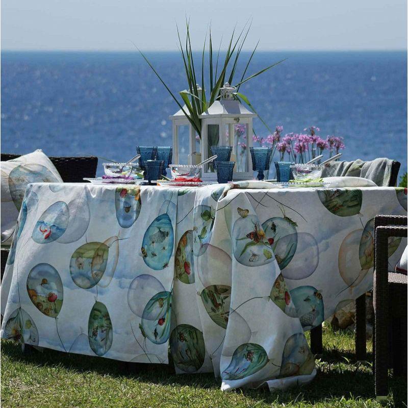 "Tessitura Toscana Tellerie, linen tablecloth ""Balloons"""