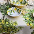 """Tessitura Toscana Telerie, nappe carrée en lin """"Limonaia"""""""