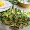 "Tessitura Toscana Tellerie, linen tablecloth ""Limonaia"""